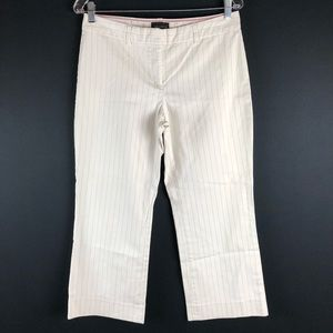 The Limited Cassidy Fit White Pinstripe Crop Pants
